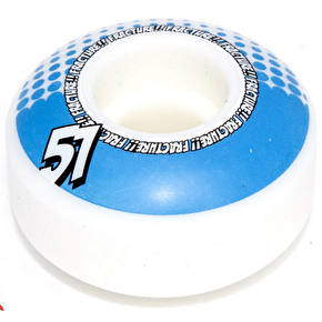 Fracture Drops Skateboard Wheels - Blue 51mm (Pack of 4)