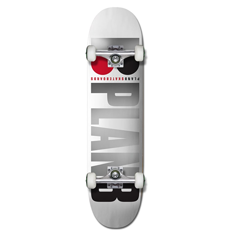 Plan B Team OG Complete Skateboard - White/Foil 7.75""