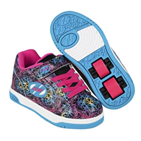 Heelys X2 Dual Up - Black/Cyan/Neon Multi