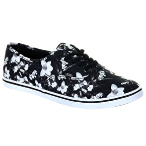 Vans Authentic Lo Pro Shoes - (Blurred Floral) Black/White