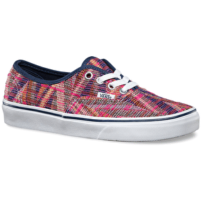 Vans Authentic Shoes - (Woven) Pink/True White
