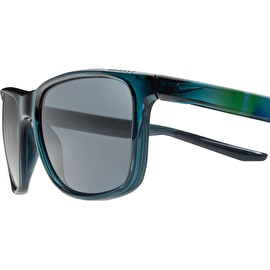 Nike SB Unrest Sunglasses - Crystal Midnight Teal With Dark Grey Lens