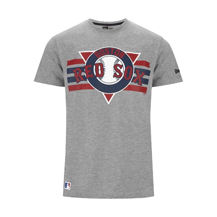 New Era MLB Stripes Tee-Boston Redsocks