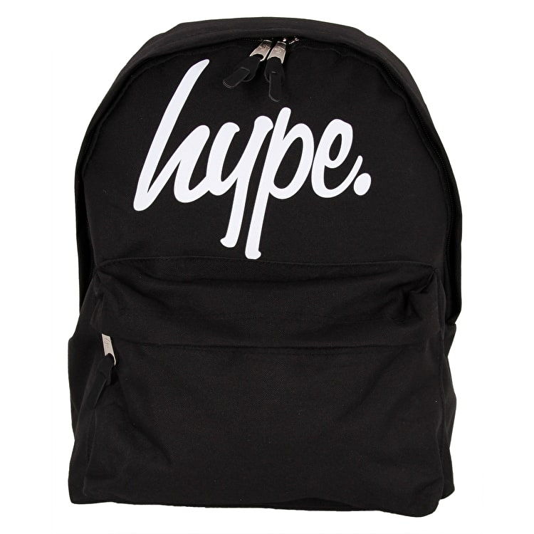 Hype Large Script Backpack - Black/White
