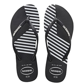 Havaianas Slim Block Colour Womens Flip-Flops - Black