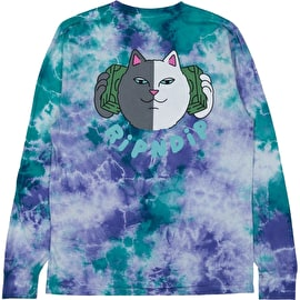 RIPNDIP Money Talks Long Sleeve T Shirt - Green/Purple Acid Wash