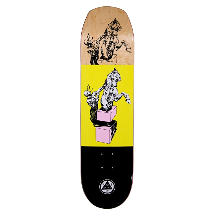 Welcome Hierophant On Helm Of Awe 2.0 Skateboard Deck - Yellow 8.38""