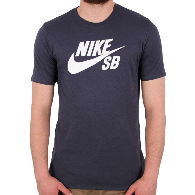 Nike SB Logo T shirt - Thunder Blue/White