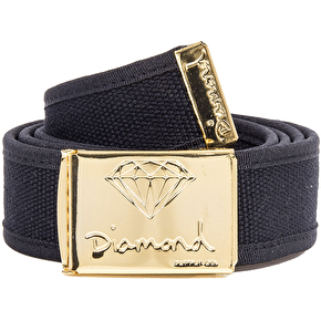 Diamond OG Logo Clamp Belt - Black