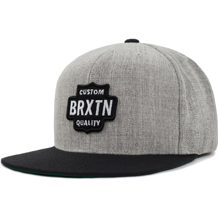 Brixton Garth Snapback - Light Heather Grey/Black
