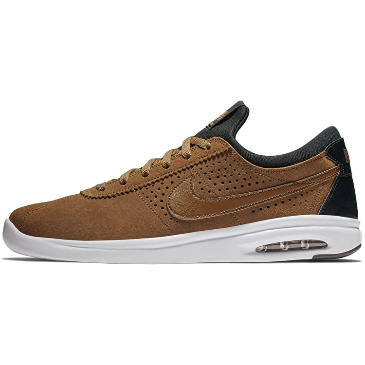 Nike SB Air Max Bruin Vapor Skate Shoes - LT British Tan/Black Monarch