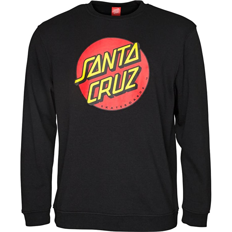 Santa Cruz Classic Dot Crew Neck - Black