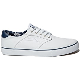 B-Stock Lakai Porter Skate Shoes - White Canvas Size - UK 7 (Repackaged)