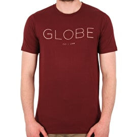 Globe Phase T-Shirt - Deep Red