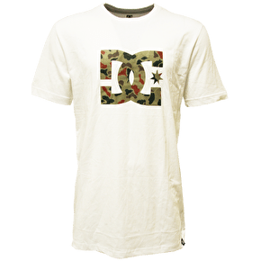 DC Logo Star T-Shirt - White/Camo