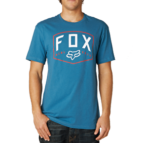 Fox Loop Out Premium T-Shirt - Blue Steel