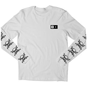 Fourstar Pirate Long Sleeve T-Shirt - White
