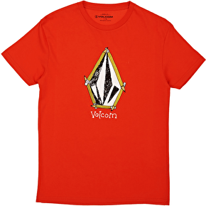 Volcom Pencil Stone Basic Kids T-Shirt - Why Rock Red