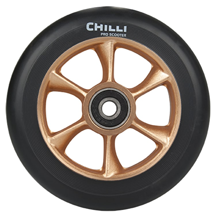Chilli Pro Turbo 110mm Scooter Wheel w/Bearings - Black/Gold