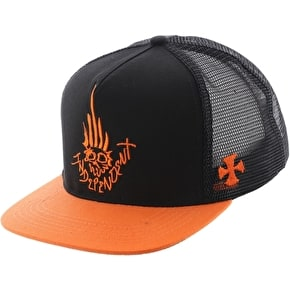 Independent Jessee Man Club Trucker Cap - Black/Orange