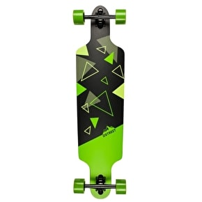 D-Street Polygon Tri Drop-Through Complete Longboard - Green 39