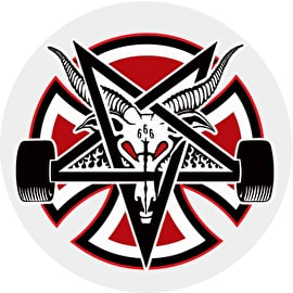 Independent x Thrasher Pentagram Cross Skateboard Sticker - 5