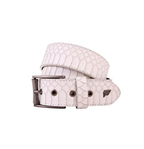 LowLife Adder Belt - White Snakeskin