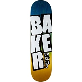 Baker Stacked Name Skateboard Deck - Theotis 8.3875