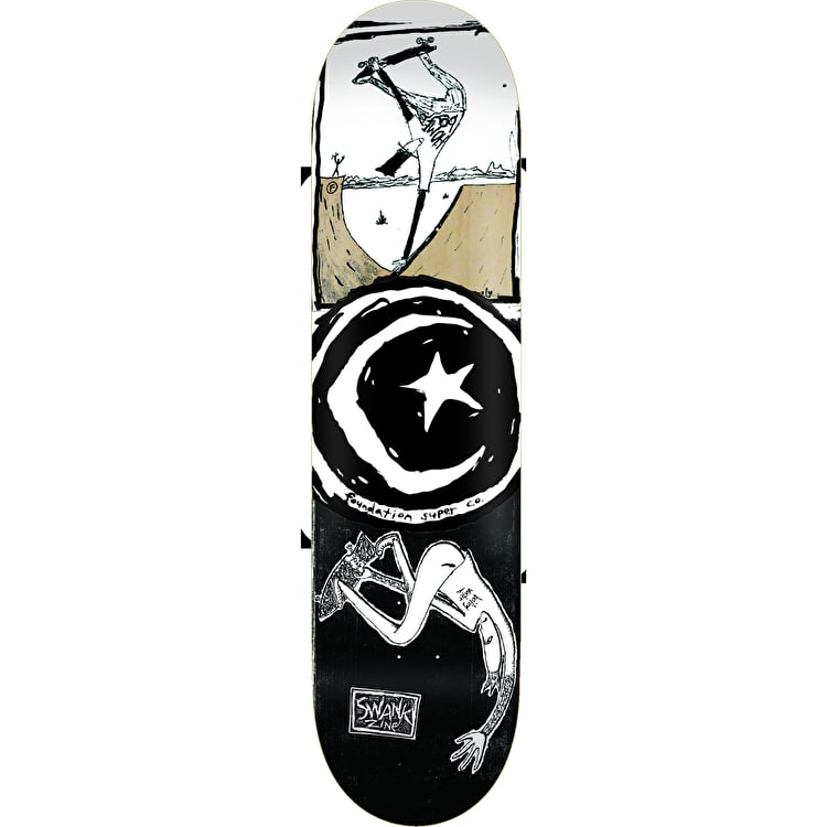 Foundation Star & Moon Boiling Water Skateboard Deck - 8""