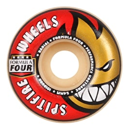 Spitfire Formula Four Radial 101D Skateboard Wheels - Red 54mm (Pack of 4)