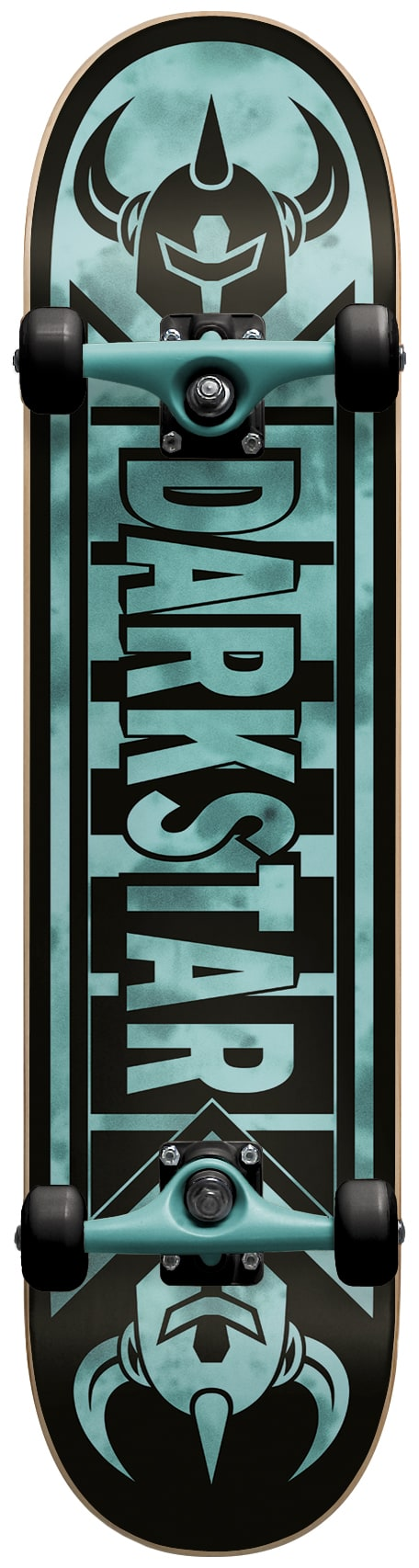 Image of Darkstar Faded Youth Complete Skateboard - Tie Dye Aqua - 7.375""