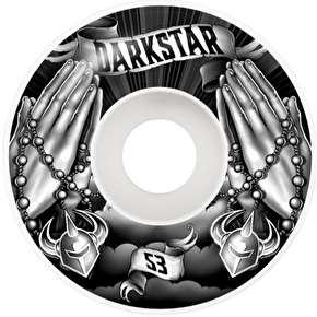 Darkstar Skateboard Wheels - Salvation Black/White 53mm