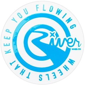 River Wheels Round Sticker