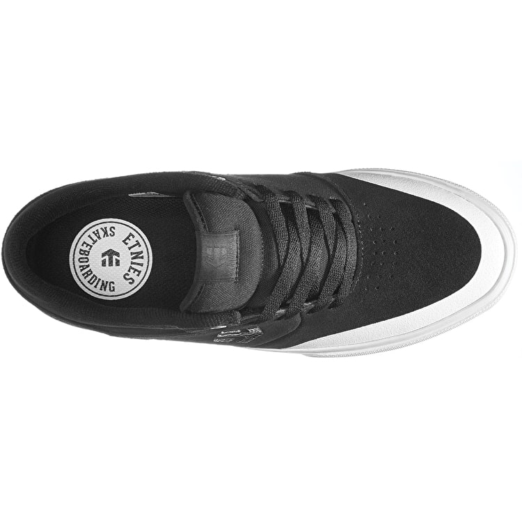 Etnies Marana Vulc Skate Shoes - Black/White/Silver
