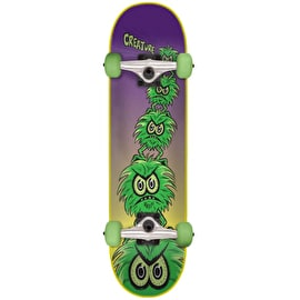 Creature Creeps Mini Complete Skateboard - Purple/Green 7