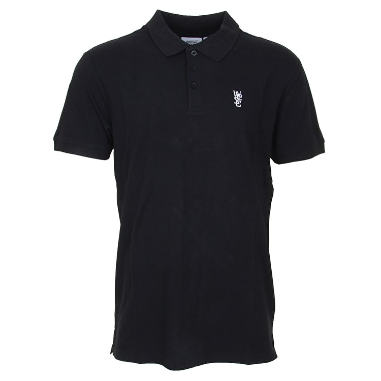 WeSC Antartic Polo T-Shirt - Black