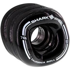 Shark Wheel California Roll 60mm 78A Longboard Wheels - Black