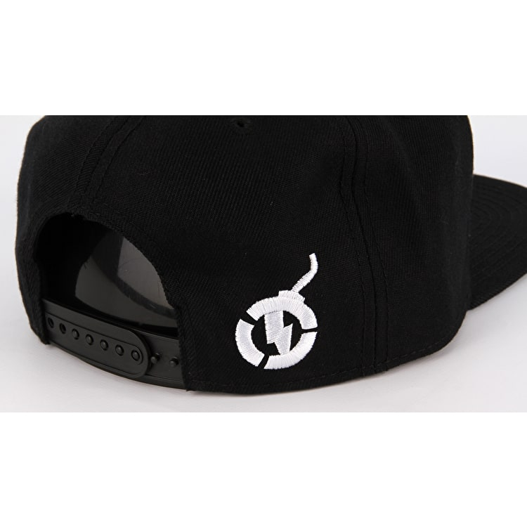 Nitro Circus Captain Circle Dash Flat Peak Cap - Black