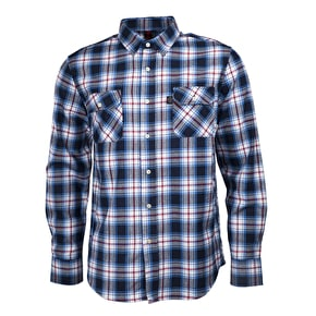 Independent Faction Longsleeve Shirt - Blue Check