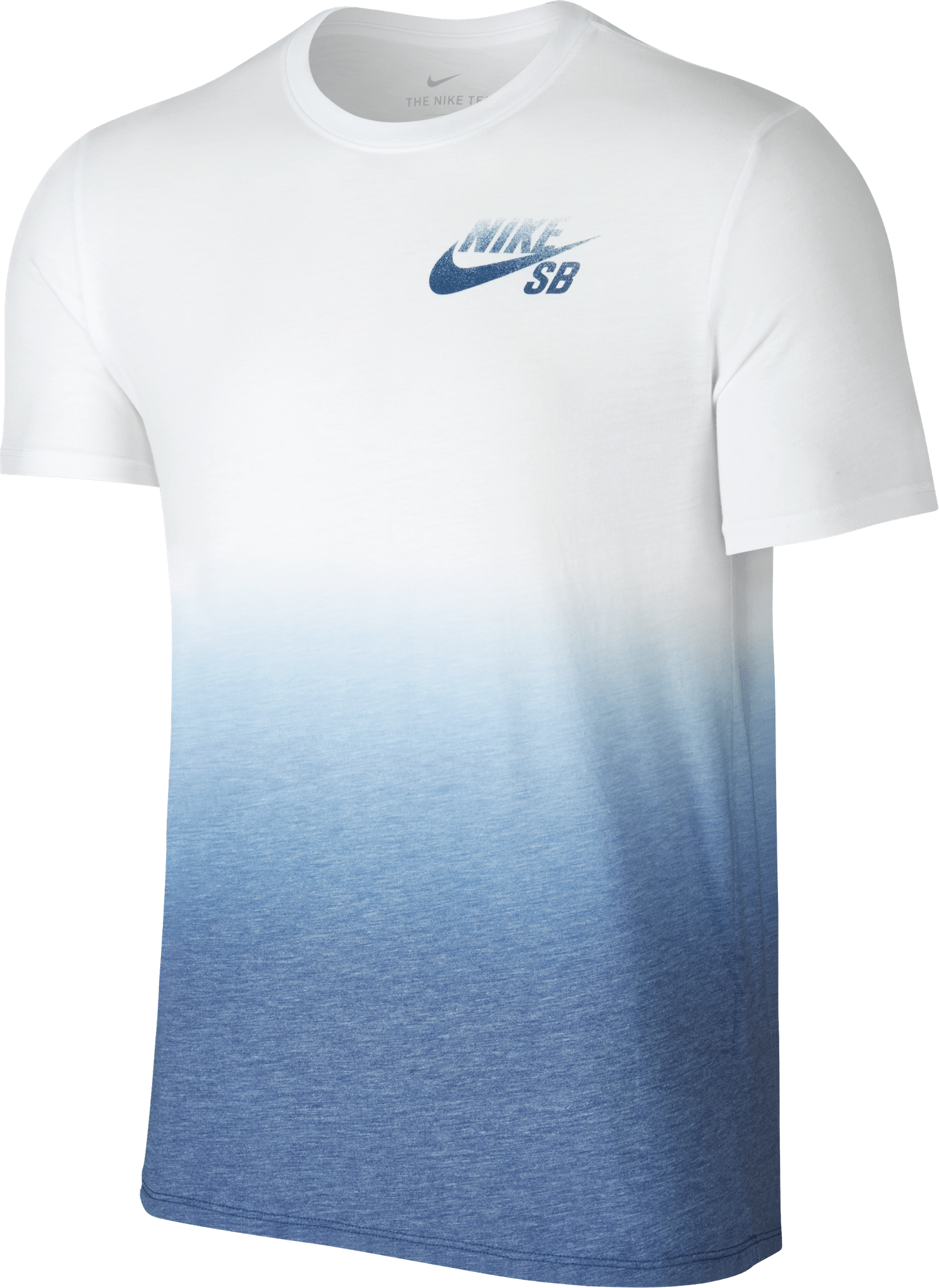 Nike sb dri blend dip dye t shirt white industrial blue for T shirt company reviews