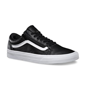 Vans Old Skool Zip Shoes - (Premium Leather) Black