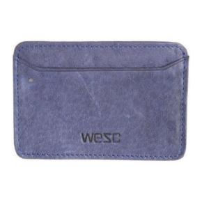 WeSC Yngwie Leather Card Holder - Medium blue