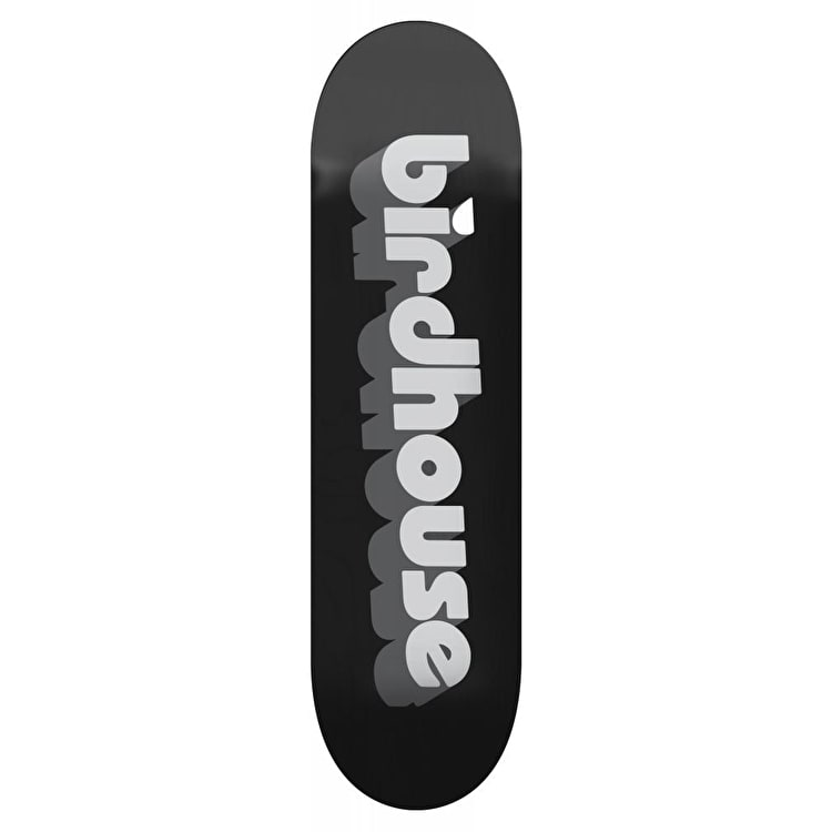 Birdhouse 3D Logo Skateboard Deck - Black 8""