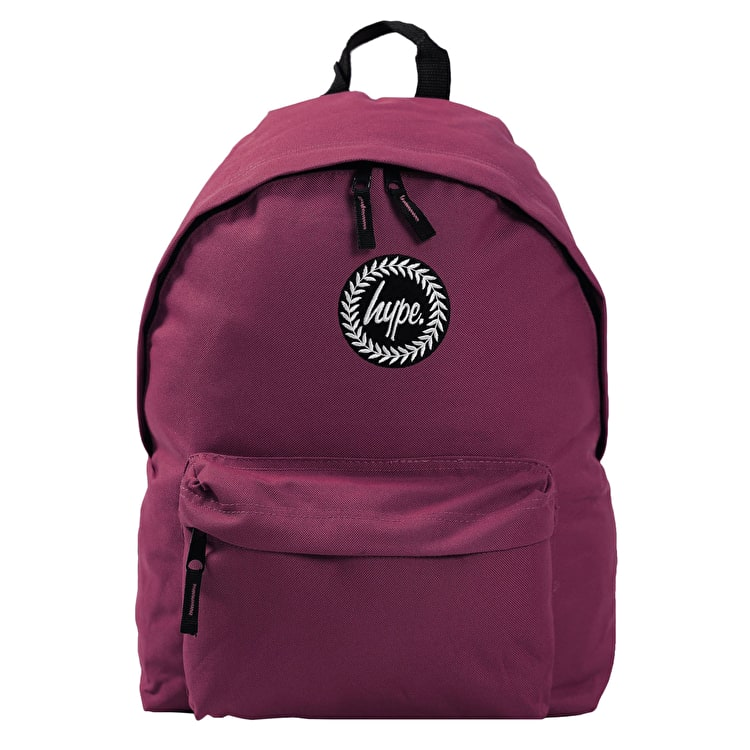 Hype Badge Backpack - Burgundy