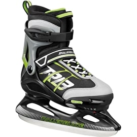 Rollerblade Comet Adjustable Ice Skates - Black/Green