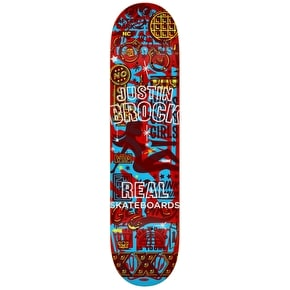 Real Overlay Skateboard Deck - Brock 8.5