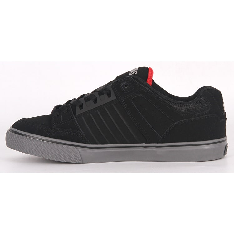 DVS Celcius CT Skate Shoes - Black/Charcoal/Red Nubuck Deegan