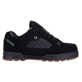 DVS Militia CT Skate Shoes - Black/Camo Nubuck