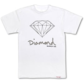 Diamond Supply Co OG Sign T Shirt - White