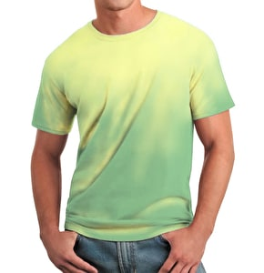 Global Technacolour T-Shirt - Green into Yellow